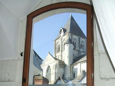 View from Bedroom 1 - La Boulangerie (former bakery) Loire Valley France - Loire Valley - rentals