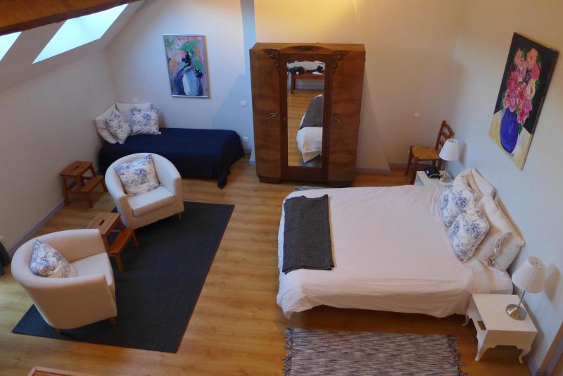 Loft Master Bedroom with Skylights - Charming Home in Quaint Winemaking Village - Meursault - rentals