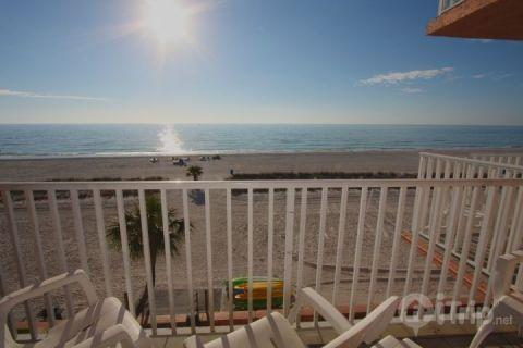 Your view of the Gulf of Mexico from a private balcony - 412 - Island Inn - Treasure Island - rentals