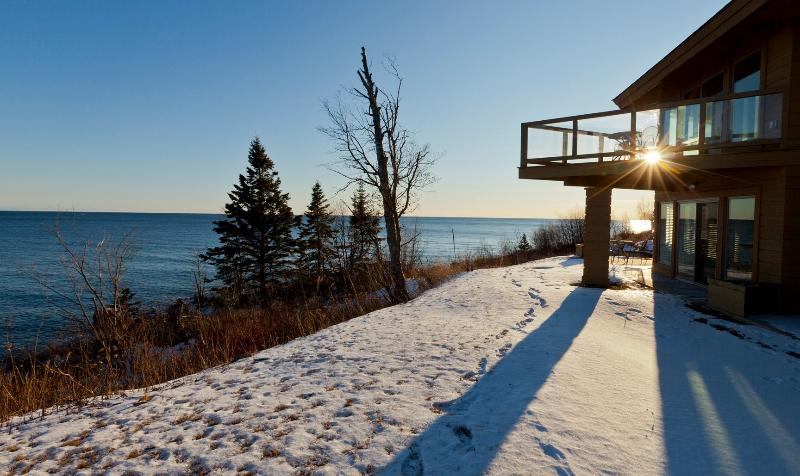 Winter on Lake Superior next to a cozy Fireplace - Terrace Point Grand Marais Condo on Lake Superior - Grand Marais - rentals