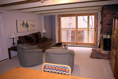 Living area - 1 Bedroom/1 Bath Condo at Chateau Blanc- Unit 8 - Aspen - rentals