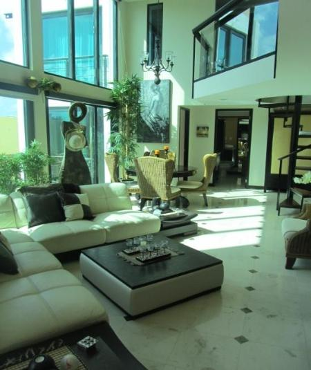 Living room - Amazing 3 bdr Penthouse w/sea view & rooftop pool - Playa del Carmen - rentals