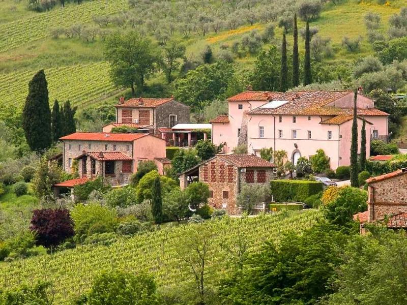 Total view of the farmhouses - Colleverde Vineyards, 6 bedrooms villa in Tuscany - Lucca - rentals