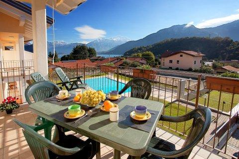 The lake and pool as viewed from your private balcony - Lenno Spese - Lenno - rentals