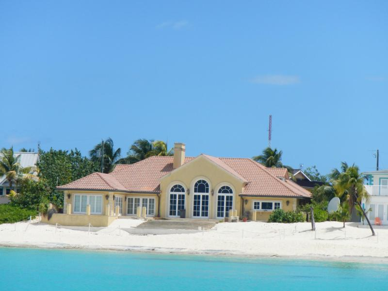 The House in front of us and our beach. - Luxury Condo by Boggy Sand Beach (Ground Floor) - Grand Cayman - rentals