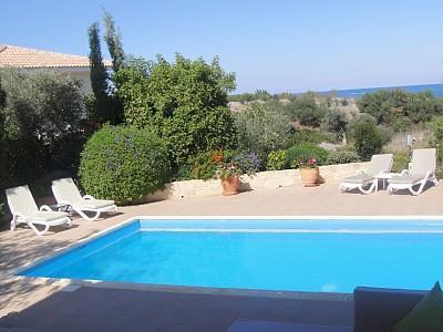 View from main patio - Luxury villa, large pool, sea views, 5 mins beach - Paphos - rentals