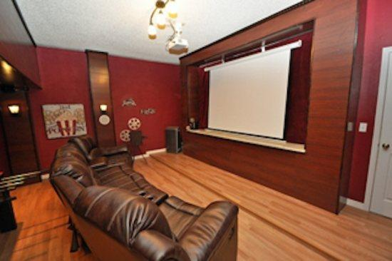 A real home theater with 100