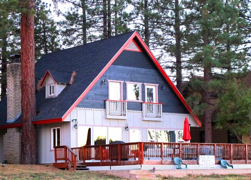 View of house from the lake - Laken Haus, Best house on the Lake with dock!!! - Big Bear Lake - rentals