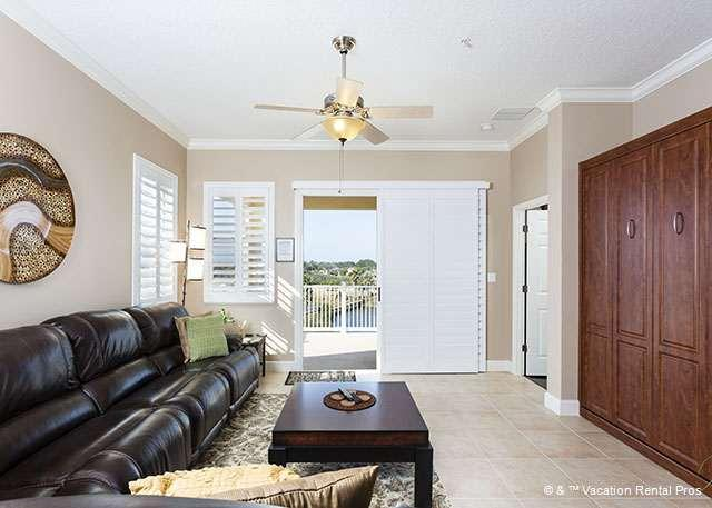 From the living room you can see the lake and beyond! - 941 Cinnamon Beach, 3 BRs, 3BAs, 2 heated pools, spa, HDTV, wifi - Palm Coast - rentals