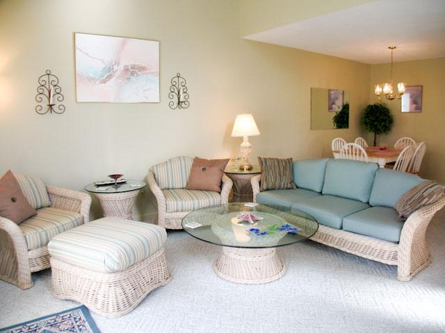 Living Area - Ocean Edge townhouse  with A/C close to pool (fees apply) - FL0496 - Brewster - rentals