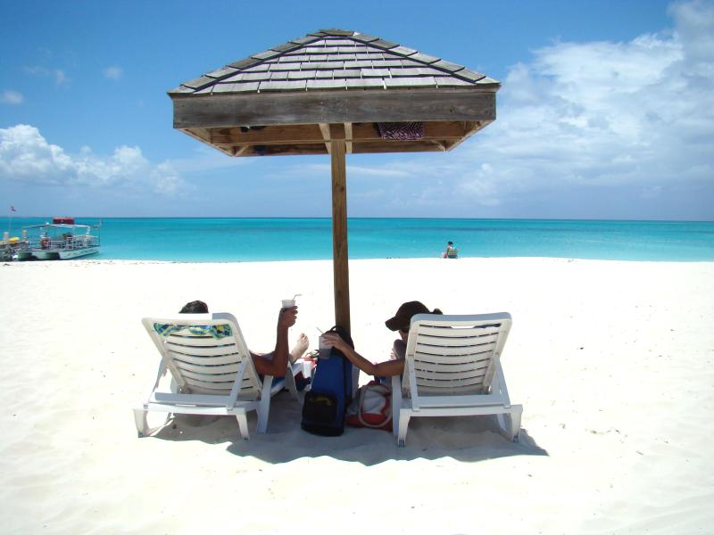 Guest photo at Flamingo Cafe in Grace Bay on the beach. - Enjoy Turks & Caicos on a Budget! Oceanviews!!! - Providenciales - rentals
