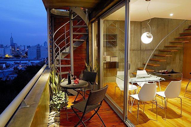 livingroom balcony - Penthouse/Terrace & pool/City views - Buenos Aires - rentals