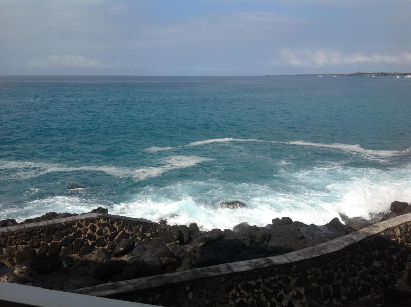 The view from living room lanai. - Truly Oceanfront with A/C! - Kailua-Kona - rentals