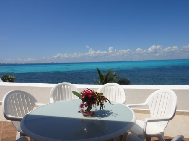 Penthouse Terrace - 4BR Spacious Penthouse, Beach, Pool- Villa Bonita - Isla Mujeres - rentals