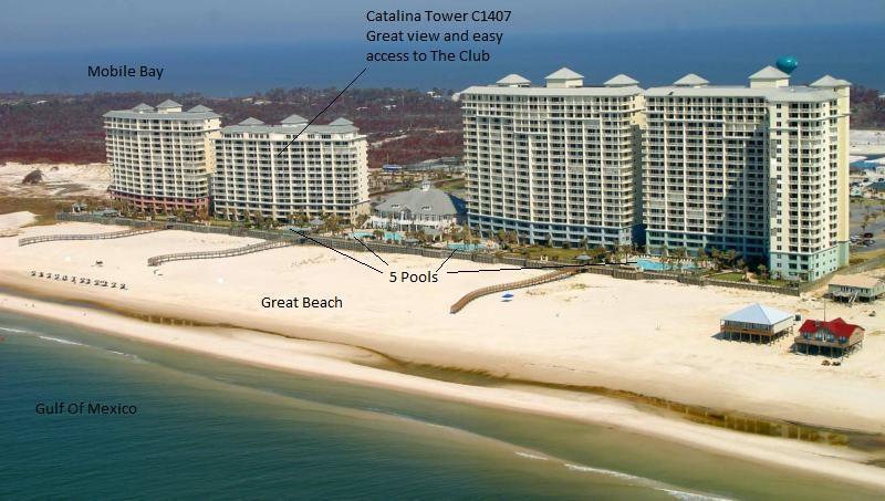 "View from the Gulf of Mexico of Beach Club Condo Resort - Beach Club""Nana Cabana"" sleeps 7, great reviews ;) - Gulf Shores - rentals"