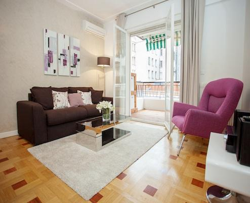 Violet- Stylish 2 Bedroom Nice Apartment with Outdoor Dining Area - Image 1 - Nice - rentals