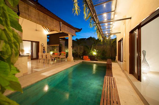 3 Bedroom Villa Esmee - View of swimming pool - Villa Esmee -2/3 Bed Private Pool Villa Fr $155/Nt - Seminyak - rentals