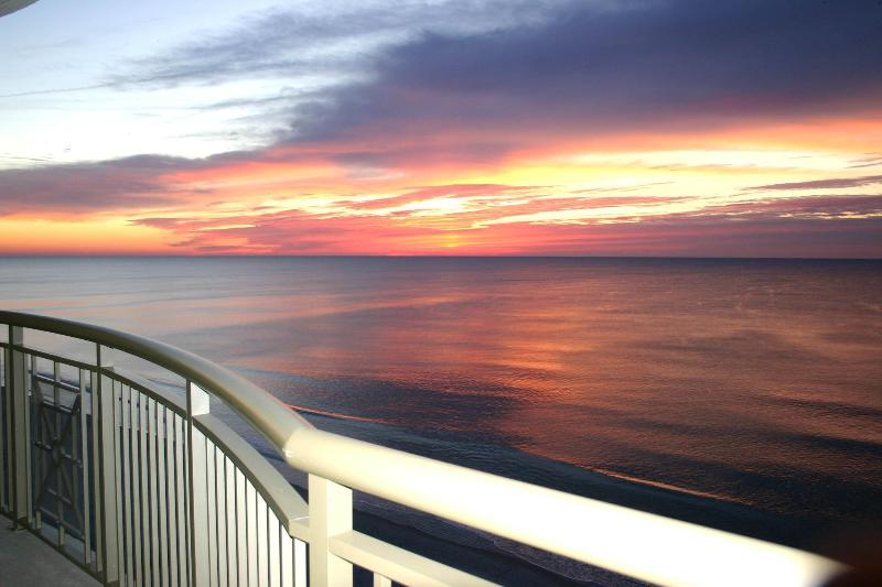 Magnificient sunrise from expansive balcony - OwnerDirect Luxury MarVistaGrand BeachFront 3BR3BA - North Myrtle Beach - rentals