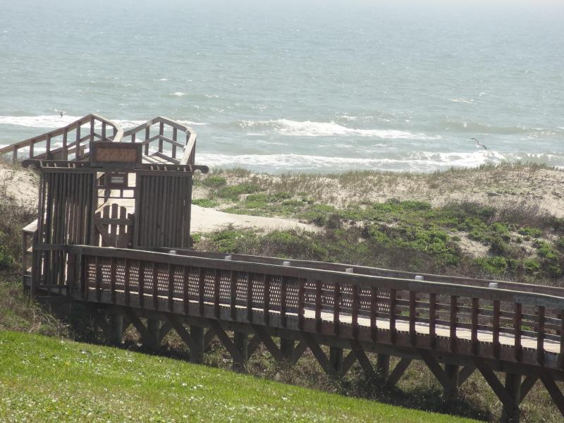 Boardwalk to beach - Updated 2BR 3BA Condo on the Beach with views! - Port Aransas - rentals