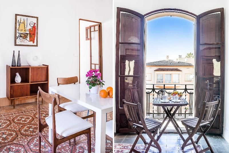 Dining Room and Breakfast table. - Sunny, modern flat, large windows, balconies.Palma - Palma de Mallorca - rentals