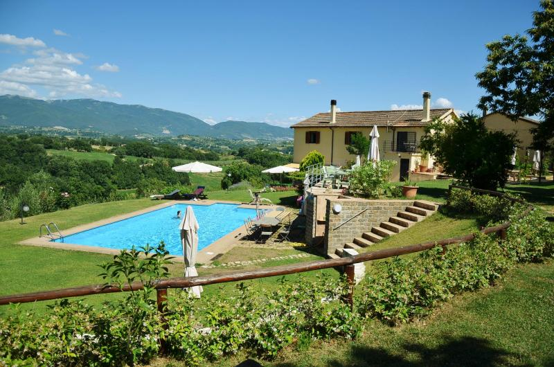 view from the entrance - CalaSabina lovely villa with pool close to Rome - Rome - rentals