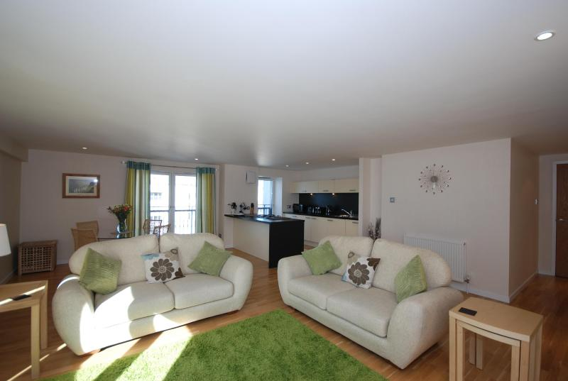 Relax after a busy in day in our large open plan lounge - Barony Gate - 2 Bed Luxury Apartment - Glasgow - rentals