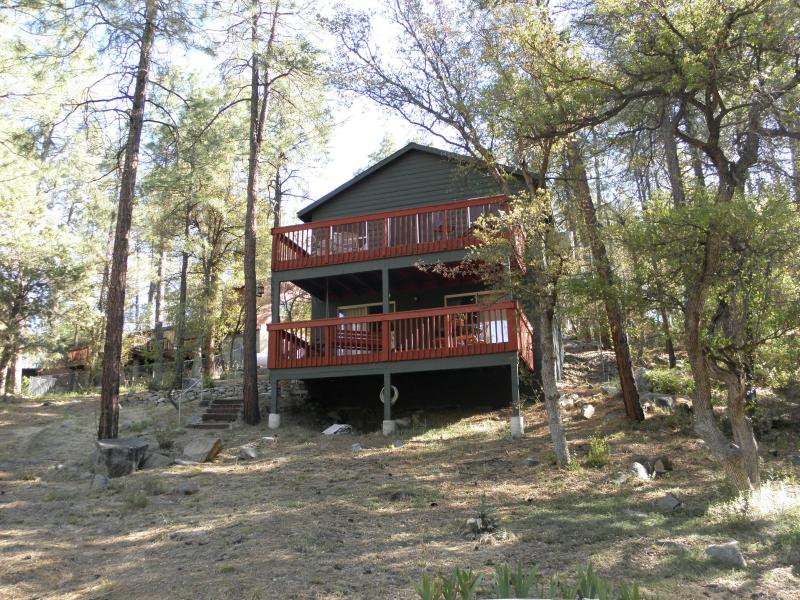 Back of cabin - Gorgeous Cabin in the Pines - Prescott - rentals