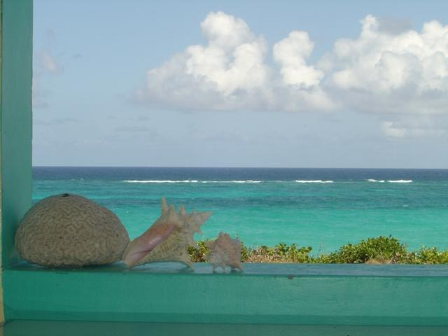 View of water from porch - Barbados Waterfront on Cliff with stairs to beach - Saint Philip - rentals