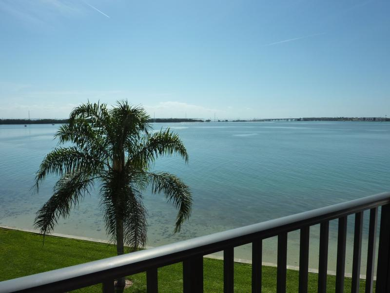 Balcony with View of Boca Ciega Bay - Beautiful Oceanfront Isla Del Sol Condo - Saint Petersburg - rentals