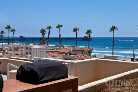 View from common BBQ & patio area - Pacific Street Bliss (3492223)-30 - Oceanside - rentals