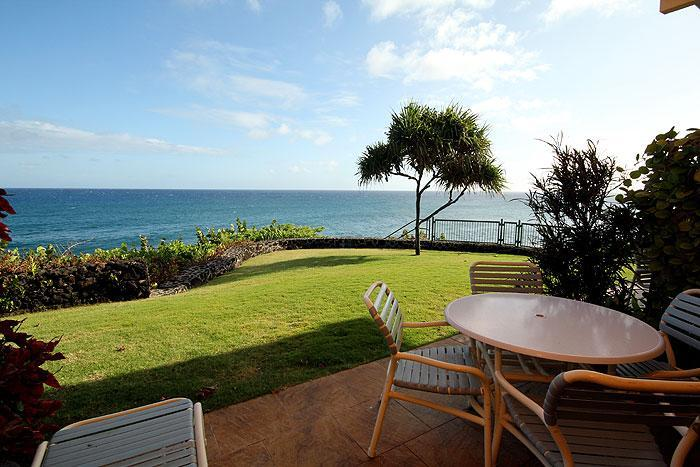 View from Lanai - 2BR Poipu Oceanfront Condo, Kitchen, WiFi 103C - Poipu - rentals