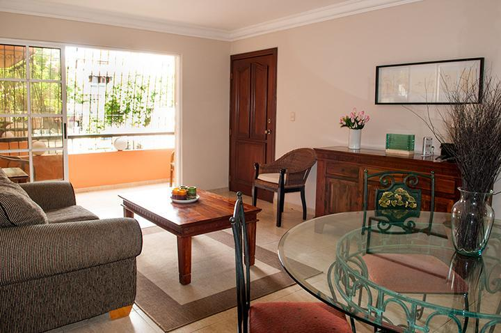 Living/dining and terrace;Sala/comedor/balcón - Charming/convenient 2BR/2BA in Gazcue has it all. - Santo Domingo - rentals