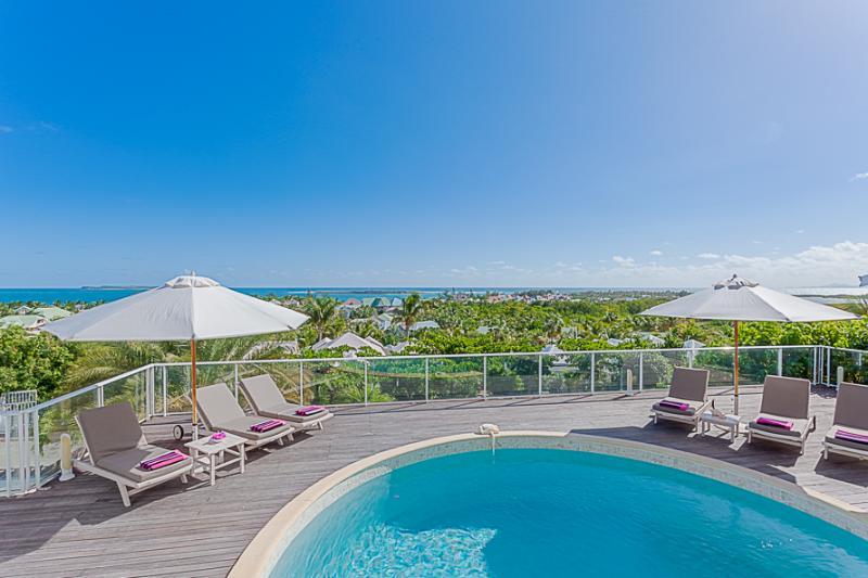Ocean View Villa, Green Cay Villas, Orient Bay, St Martin 800 480 8555 - OCEAN VIEW VILLA @ GREEN CAY ... sunrise views over the ocean towards Tintamarre and St. Barth - Orient Bay - rentals