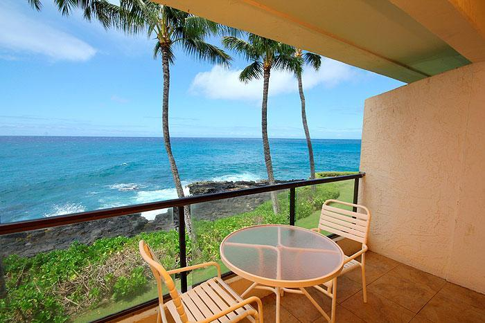 Lanai - Peaceful 2BR Poipu Shores Condo/Kitchen/WiFi 202A - Poipu - rentals