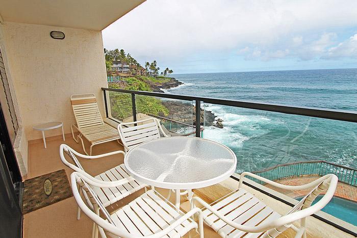 Lanai - Expansive 1BR Poipu Shores Condo/Kitchen/WiFi 203B - Poipu - rentals