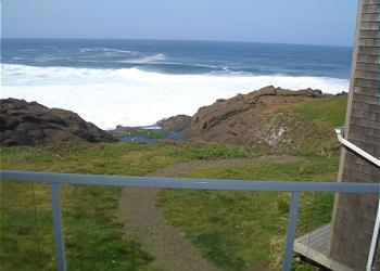 Balcony - RSS Royal Pacific - Condo june spec. 3rd nt. free - Depoe Bay - rentals