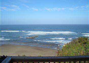 Deck view - Finders Keepers -Oceanview w/ Hot Tub - Lincoln City - rentals