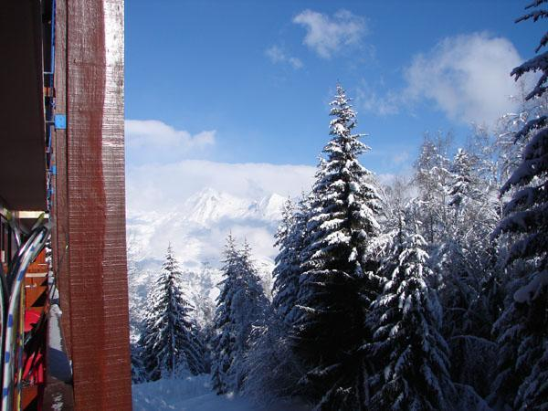 View from the balcony - 4 person studio apartment in French Alps Arc 1800 - Savoie - rentals