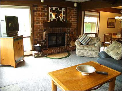 Cozy living room with wood burning fireplace - Snowmass Slopeside - Full Amenities (2137) - Snowmass Village - rentals