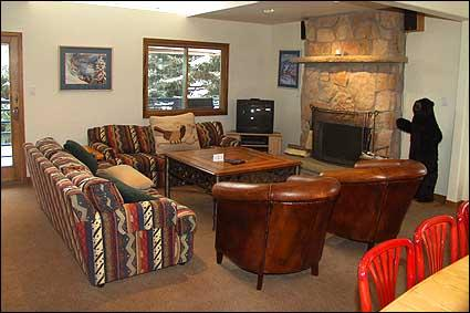 Great Room features stone fireplace and comfortable seating. - Secluded Condo - Close to Lifts (2603) - Aspen - rentals