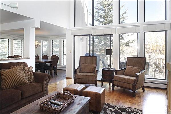 Living Room, Dining Room - Location, Location, Location - Walk to restaurants and shops (3149) - Snowmass Village - rentals