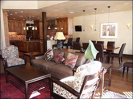 Open Living Area - Stunning Dave Gibson Home - Backs to National Forest (8684) - Aspen - rentals