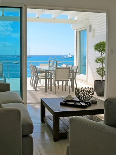 Aqualina #401 at Simpson Bay, Saint Maarten - On The Beach, Ocean and Lagoon View, Central Air Condi - Image 1 - Simpson Bay - rentals