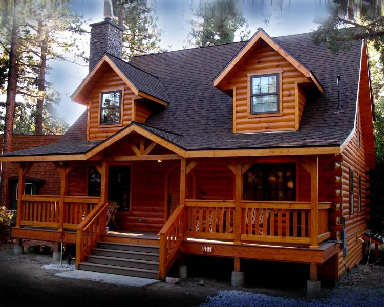 Cabin Front - The Holiday Cabin in Big Bear City,Ca - Big Bear City - rentals