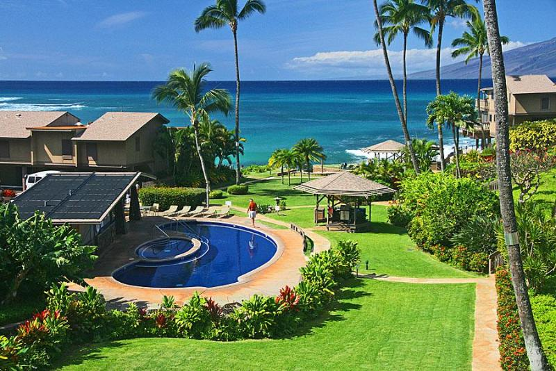 View from our lanai. - 2 bdrm condo in West Maui, remodeled, ocean view. - Lahaina - rentals