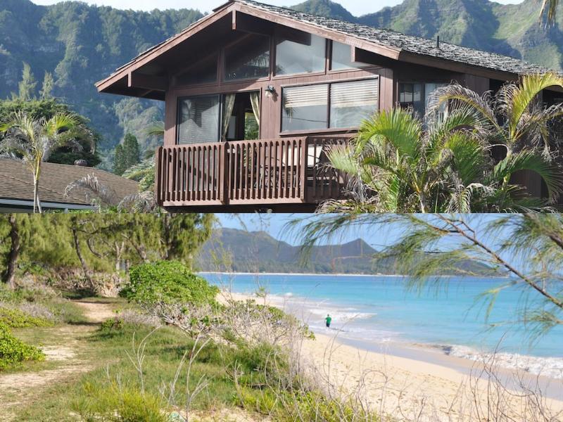 (Top) Cottage (Bottom) beach - Ocean View Beach Cottage- Super Location & Price! - Waimanalo - rentals
