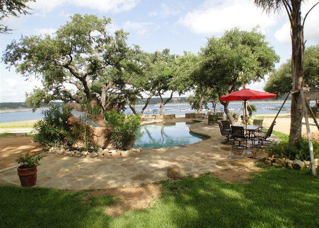 Amazing Waterfront Compound- Pool, Hot Tub, Palapa Bar, Easy Access to Lake - Image 1 - Austin - rentals