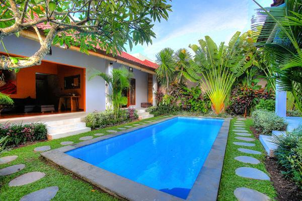 Our private swimming pool and tropical plants - 3 Bedroom Villa Close to the Beach - Legian - rentals
