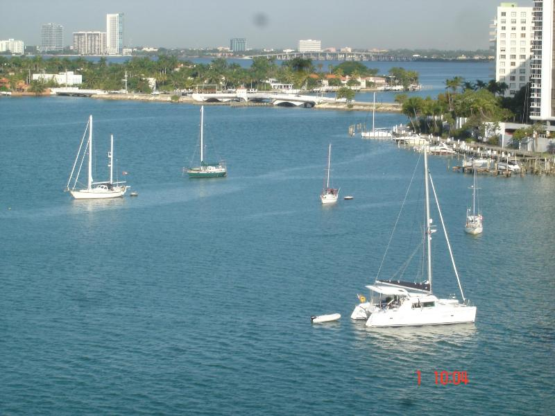 DIRECT VIEW FROM LIVING ROOM/BALCONY - LUXURY SOUTH BEACH CORNER APARTMENT - Miami Beach - rentals