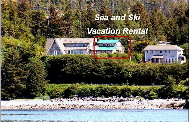 Perched on the Mountainside, red square shows the rental - Sea & Ski - Sitka - rentals